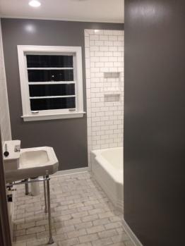 A toilet and shower door to go!